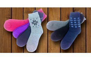 3 páry termo ponožek pro pány i dámy
