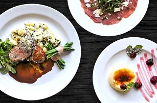 3chodové menu pro 2 v romantické restauraci
