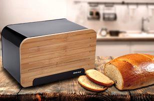 Chlebníky s odnímatelným dřevěným víkem KingHoff
