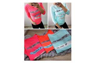 Dámské neonové tričko s nápisy Anette
