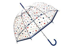 Transparentní deštník Susino Hearts