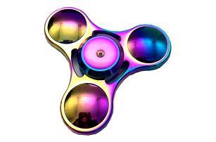Fidget spinner jako antistresová hračka - duhová barva - dodání do 2 dnů