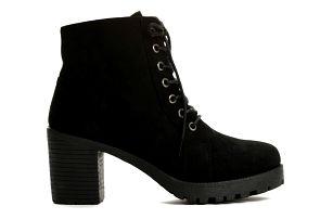Dámské černé kotníkové boty Holgera 6166