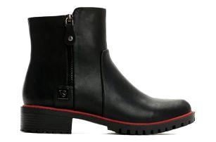 Dámské černé lesklé kotníkové boty Alicia 2132