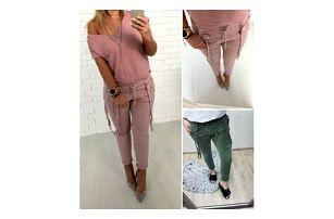 Dámské kalhoty s kšandami Brenda