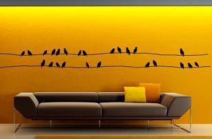 Sada samolepek Ambiance Starlings On Cable