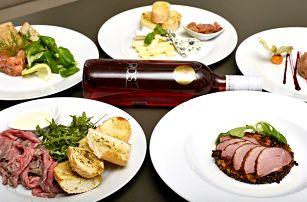 Romantické 3chodové degustační menu pro 2