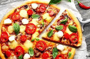 Poctivá italská pizza: ⌀ 32 cm, výběr z 10 druhů