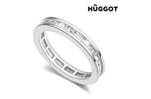 Prsten potažený rhodiem se zirkony Fashion Hûggot