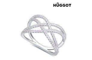 Prsten ze sterlingového stříbra 925 se zirkony Diadem Hûggot