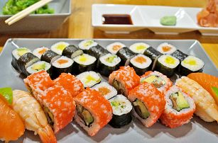 Sushi sety s 20 až 36 kousky i pro take away