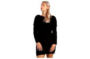Úpletové šaty/svetr 2v1 černá