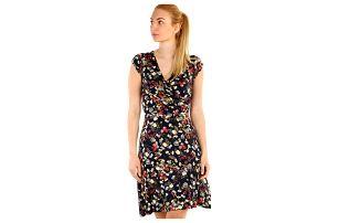 Dámské šaty s květinovým vzorem tmavě modrá