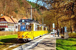 Celodenní zájezd pro 1 za svezením se vyhlídkovou tramvají v německém Saském Švýcarsku