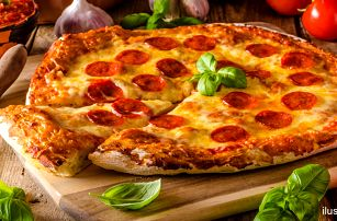 Pizza o průměru 45 cm: výběr ze 3 druhů