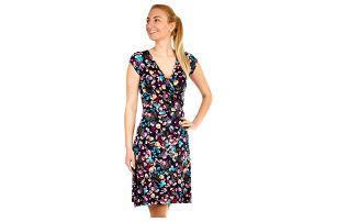 Dámské šaty s květinovým vzorem modrá 9a239ed9d0