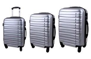 Sada 3 kufrů stříbrná