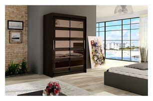 Velká šatní skříň MIAMI IV čokoládová šířka 120 cm