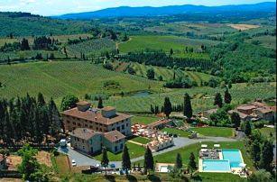 Dovolená v Toskánsku v romantické vile uprostřed vinic. Dítě zdarma!