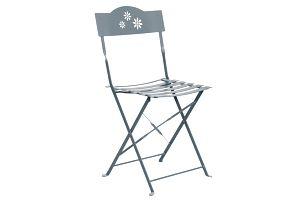 Šedá skládací židle Butlers Daisy Jane