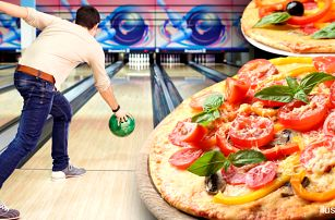 Bowling a 2 křupavé pizzy pro až 8 hráčů