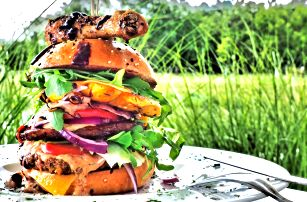 Malajsií inspirované burgery se 4 druhy masa