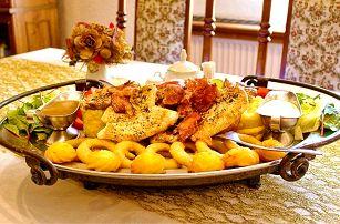 Rudolfovo plato plné dobrot pro opravdové jedlíky v Golemově restaurantu v Březiněvsi