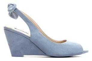 Dámské modré sandály na klínku Tamisha 3205