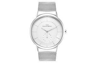 Pánské hodinky ve stříbrné barvě s bílým ciferníkem Rhodenwald & Söhne Trademaster