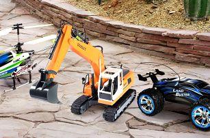 RC modely: tanky, auta, bagry i stavební stroje