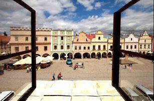 Romantický pobyt v hotelu na UNESCO historickém náměstí v Telči