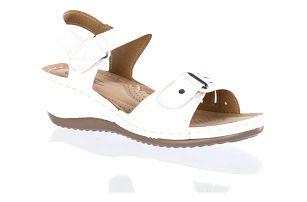 Camo Dámské sandály Fashion se suchými zipy bílé