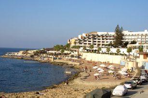 Malta - Bugibba a Qawra na 8 dní, all inclusive, plná penze nebo polopenze s dopravou letecky z Prahy 150 m od pláže