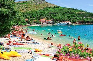 Chorvatsko - Makarská riviéra na 8 až 10 dní, polopenze, snídaně, večeře nebo bez stravy s dopravou autobusem nebo vlastní 120 m od pláže