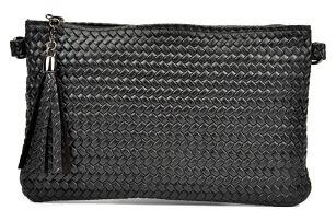 Černá kožená kabelka Mangotti Bags Marina