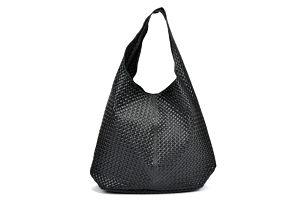Černá kožená kabelka Mangotti Bags Eugenia