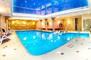 Kudowa-Zdrój, elegantní hotel Adam SPA v polském lázeňském městě u hranic, wellness a polopenze v ceně