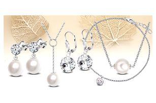 Elegantní ocelové šperky Crystal Collection s krystaly Swarovski®