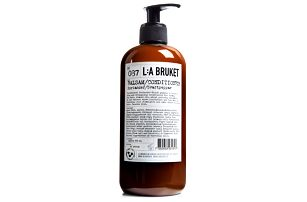 L:A BRUKET Kondicionér s koriandrem a černým pepřem 450 ml, černá barva, bílá barva, hnědá barva, plast