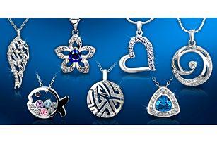 Bohatý výběr náhrdelníků s krystaly Swarovski a zirkony