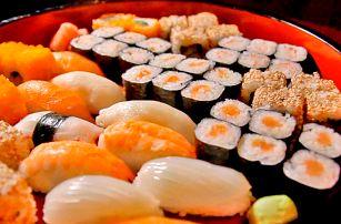Až 72 ks čerstvého sushi i taštičky Gunmandu