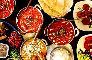 Barevné indické menu plné dobrot až pro 4 osoby