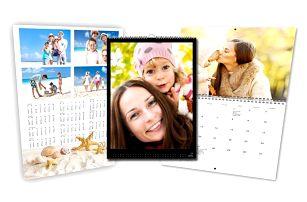 Originální nástěnný kalendář s vašimi fotkami ve formátu A3 nebo A4 ve 3 variantách
