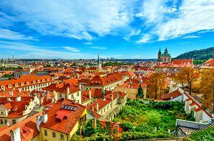 Romantická Praha v hotelu nedaleko centra města a Vyšehradu se snídaní