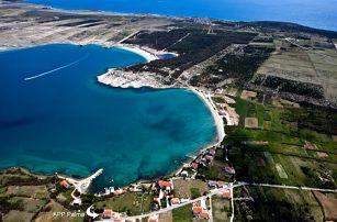 Chorvatsko - Ostrov Pag na 8 dní, bez stravy s dopravou vlastní 200 m od pláže