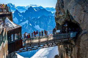 Výlet do Chamonix, k hoře Mont Blanc a do Ženevy