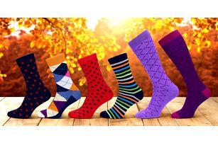 Designové ponožky z česané bavlny: páry i set