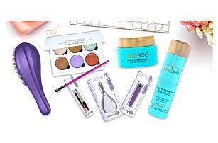 Kosmetické balíčky: hřebeny, krémy i paletky