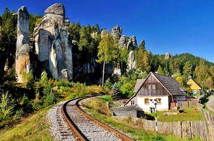 Aktivní Adršpach pro celou rodinu v chatkách s možností využití hřiště a polopenzí
