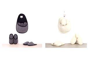Sada pantoflí pro hosty z ovčí vlny